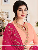 AC55568 - Peach Color Georgette Salwar Kameez
