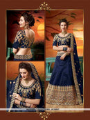 AC55607 - Navy Blue Color Soft Silk Lehenga Choli