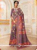 AC55637 - Grey Color Jacquard Silk Saree