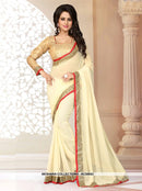 AC55949 - Yellow Color Georgette Saree