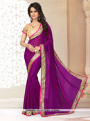 AC55952 - Light Pink Color Georgette Saree
