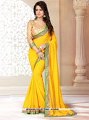 AC55959 - Yellow Color Georgette Saree
