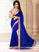 AC55957 - Teal Green Color Georgette Saree