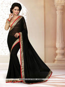AC55951 - Black Color Georgette Saree