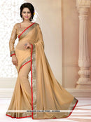 AC55943 - Cream Color Georgette Saree