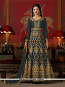 AC56209 - Mulbery Silk Anarkali Suit in Colors