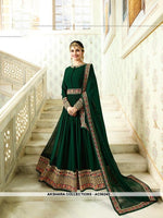 AC56243 - Dark Green Color Georgette Anarkali Suit