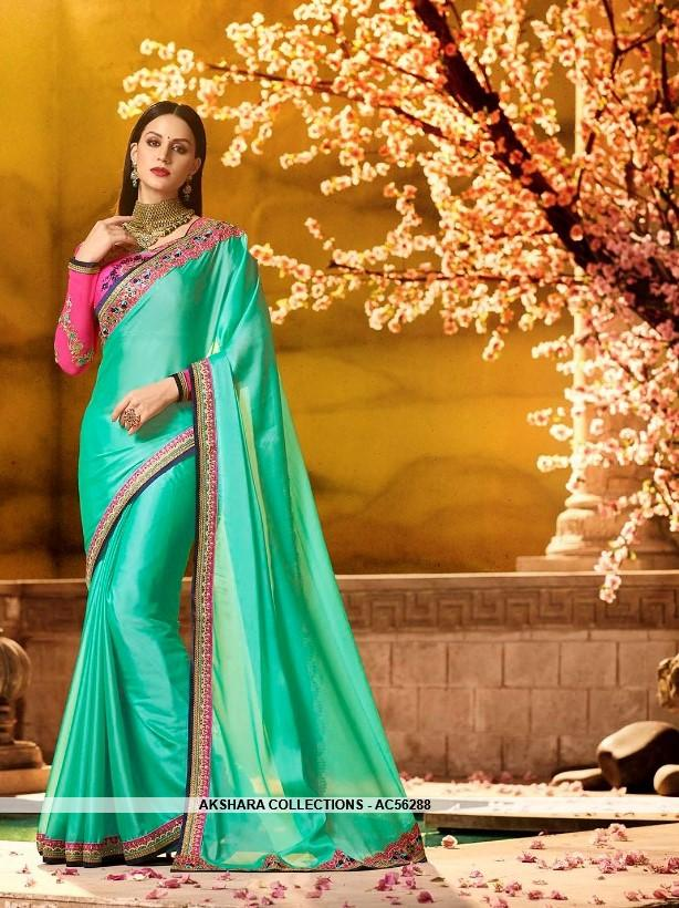 AC56288 - Medium Spring Green Color Silk Saree
