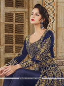 AC56406 - Navy Blue Color Banglori Silk 2 in 1 Suit