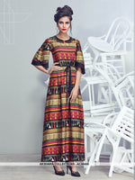 AC56450 - Multi Colour Color Crepe Georgette Kurti
