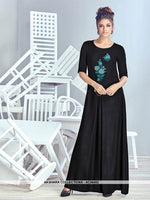 AC56452 - Black Color Crepe Georgette Kurti