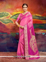 AC56485 - Pink Color Nylon Art Silk Saree