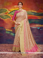 AC56494 - Beige Color Nylon Art Silk Saree