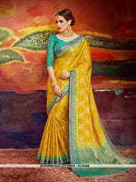AC56496 - Yellow Color Nylon Art Silk Saree