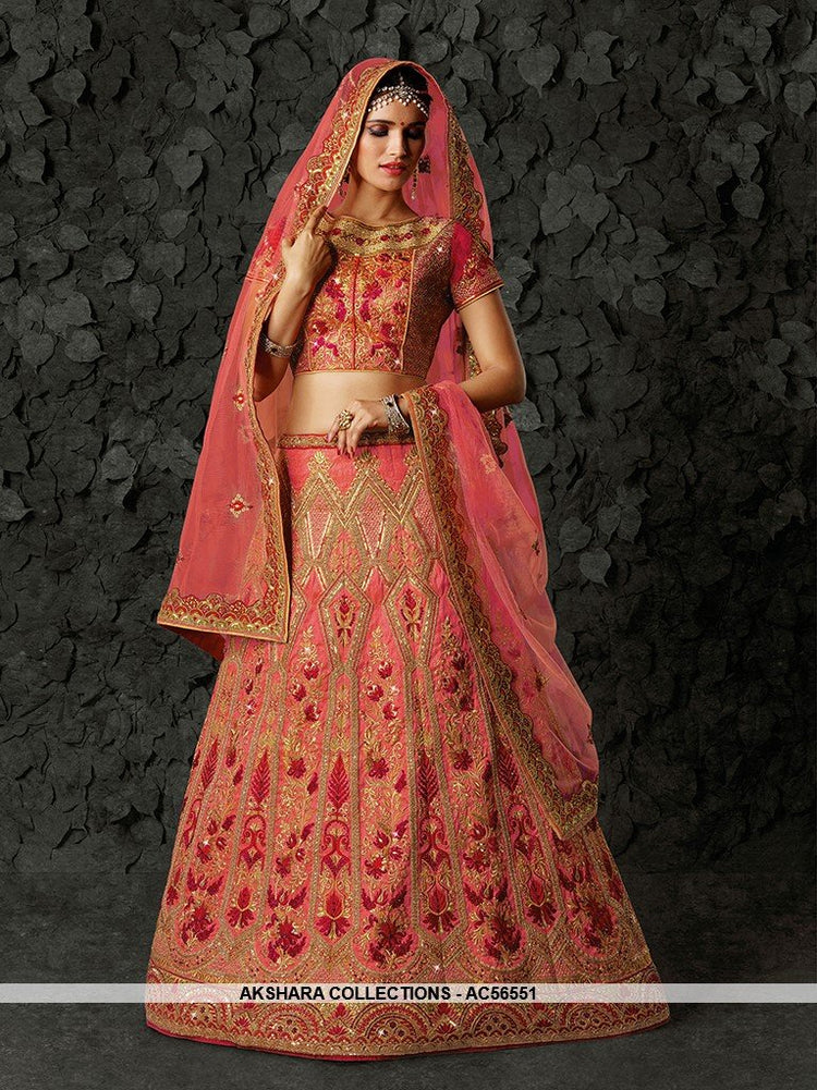 AC56551 - Pink Color Art Silk Lehenga Choli