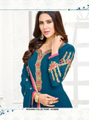 AC56996 - Steel Blue Color Georgette Salwar Kameez