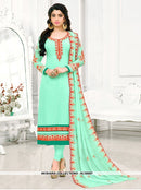 AC56997 - Rama Green Color Georgette Churidar Suit