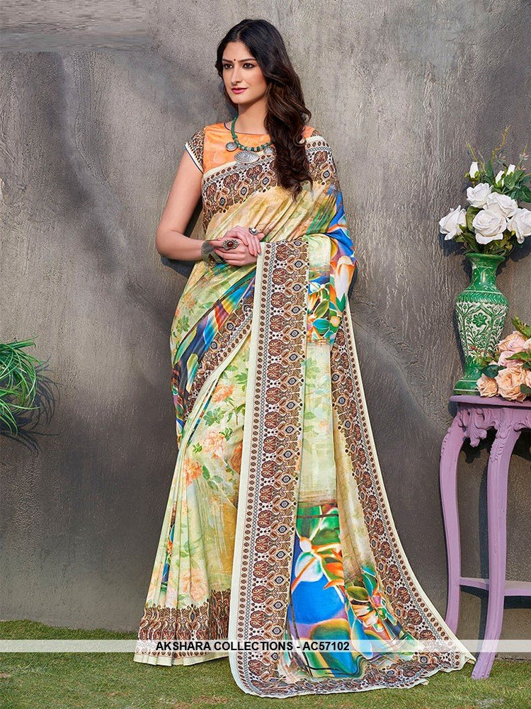 AC57102 - Light Green Color Pure Tussar Silk Saree