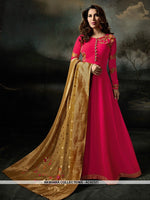 AC62321 - Dark Pink Color Georgette Anarkali Suit