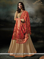 AC62323 - Beige Color Georgette Anarkali Suit