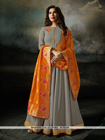 AC62325 - Grey Color Georgette Anarkali Suit