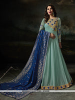 AC62326 - Aqua Blue Color Georgette Anarkali Suit