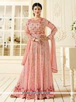 AC62469 - Baby Pink Color Georgette Anarkali Suit