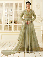 AC62470 - Pastel Green Color Georgette Anarkali Suit