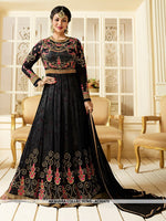AC62473 - Black Color Georgette Anarkali Suit