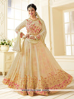 AC62474 - Off White Color Georgette Anarkali Suit