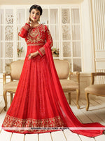 AC62475 - Red Color Georgette Anarkali Suit