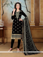 AC62487A - Black Color Georgette Churidar Suit