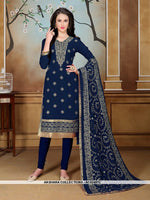 AC62487C - Blue Color Georgette Churidar Suit