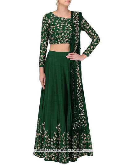 AC66525C - Green Color Art Silk Lehenga Choli