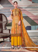AC66610 - Light Yellow Color Crepe Georgette Palazzo Suit