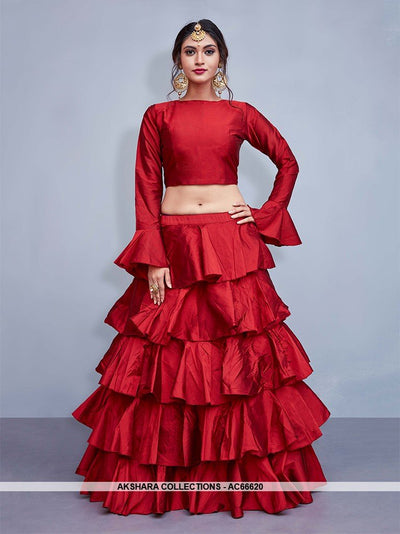 AC66620 - Red Color Art Silk Lehenga Choli