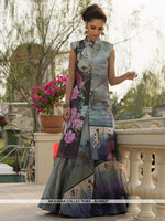 AC66627 - Grey Color Art Silk Gown