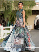 AC66635 - Grey Color Art Silk Gown