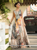 AC66636 - Multi Colour Color Art Silk Gown