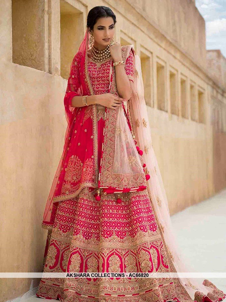 bad4cefe20 AC66820 - Hot Pink Color Dola Silk Lehenga Choli – Akshara Collections