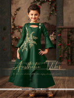 AC67564 - Green Color Satin Silk Gown