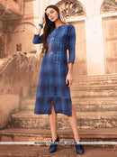 AC67786 - Blue Color Cotton Kurti