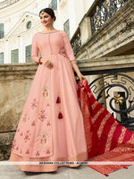 AC68391 - Baby Pink Color Art Silk and Jacquard Gown