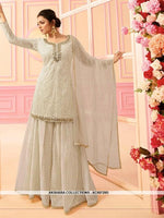 AC68729D - Off White Color Georgette Sharara Suit
