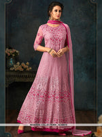 AC69010 - Pink Color Net Anarkali Suit