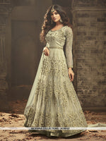 AC69107 - Light Green Color Net Anarkali Suit
