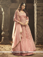 AC69108 - Light Pink Color Net Anarkali Suit