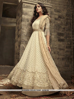 AC69109 - Off White Color Net Anarkali Suit