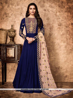 AC69156B - Blue Color Georgette Anarkali Suit