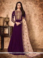 AC69156D - Purple Color Georgette Anarkali Suit